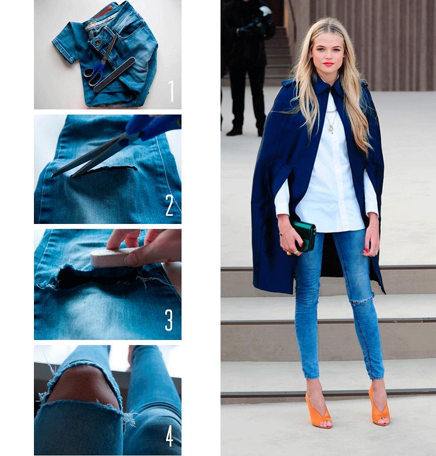 Как правильно рвать джинсы самостоятельно