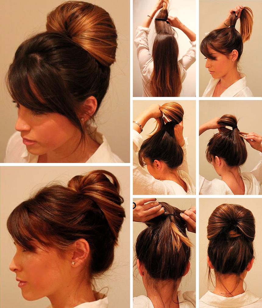 Способы сделать пучок из волос